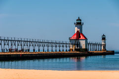 Saint Joseph lighthouse stock photo