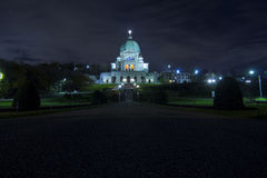 Saint Joseph Oratory la nuit Image stock