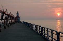 Saint Joseph's lighthouse. In Michigan Stock Images