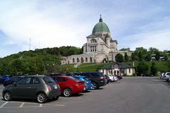 Saint Joseph's Oratory of Mount Royal car park in Canada Stock Images