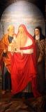 Saint Joseph, St Jerome e san Elizabeth dell'Ungheria Immagine Stock