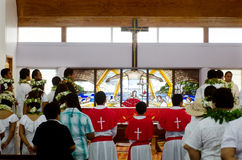Saint Josephs Cathedral in Rarotonga Cook Islands Royalty Free Stock Photography