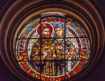 Saint Juan De Cetinas Saint Pedro De Duenas Stained Glass Granad Royalty Free Stock Images