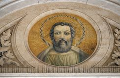 Saint Judas Thaddaeus. Mosaic in the basilica of Saint Paul Outside the Walls, Rome, Italy Royalty Free Stock Photography