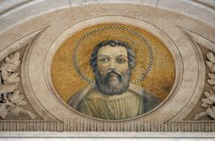 Saint Judas Thaddaeus. Mosaic in the basilica of Saint Paul Outside the Walls, Rome, Italy Royalty Free Stock Image