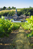 Saint Julien village and raod in Beaujolais land, France Royalty Free Stock Image
