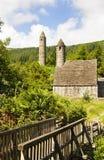 Saint Kevin Church - symbol of Ireland. Saint Kevin Church (Kitchen) is a symbol of Ireland and part of Glendalough (Gleann Da Loch) Heritage Center in the Royalty Free Stock Image