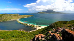 Saint Kitts Beach Landscape stock video footage