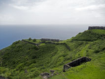 Saint Kitts, Brimstone Hill Fortress Royalty Free Stock Image