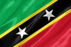 Saint Kitts e bandeira de Nevis ilustração do vetor