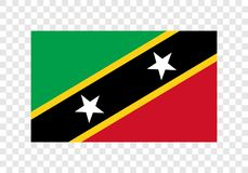 Saint Kitts e Nevis - bandeira nacional ilustração royalty free