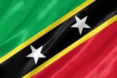 Saint Kitts et drapeau du Niévès illustration de vecteur
