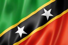 Saint Kitts et drapeau du Ni?v?s illustration de vecteur