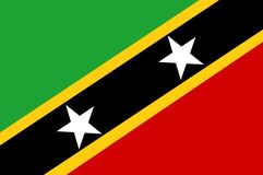 Saint Kitts And Nevis Flag Stock Photo