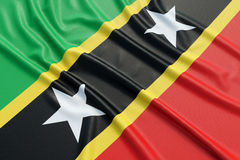 Saint Kitts and Nevis flag Stock Photo