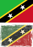 Saint Kitts and Nevis grunge flag. Vector Stock Images