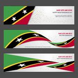 Saint Kitts and Nevis independence day abstract background desig. N banner and flyer, postcard, landscape, celebration vector illustration - This Vector EPS 10 royalty free illustration