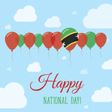 Saint Kitts And Nevis National Day Flat Patriotic. Royalty Free Stock Images