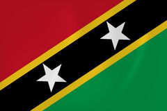 Saint Kitts and Nevis waving flag Royalty Free Stock Images