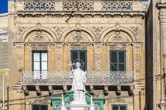 Saint-Laurent au grand dos de Vittoriosa dans Birgu, Malte images stock