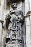Saint Lawrence. Statue in Sevilla, Andalusia, Spain. Famous cathedral. UNESCO World Heritage Site royalty free stock photography