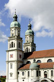 Saint Lawrence Basilica of Kempten in Germany Stock Image