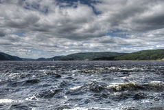Saint Lawrence River, 2008. Rough water of Saint Lawrence River in a August afternoon Stock Photography