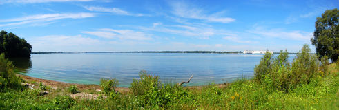 Saint Lawrence River panorama, New York State, USA Stock Photo