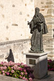 Saint Lawrence statue in Villafranca del Bierzo Stock Photo