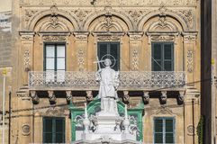 Saint Lawrence at Vittoriosa Square in Birgu, Malta Stock Photography