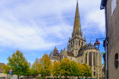 Saint Lazare Cathedral, in Autun royalty free stock images