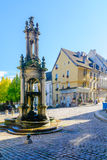 Saint-Lazare Fountain, in Autun Stock Image