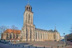 Saint Lebuinus Church in Deventer. Saint Lebuinus Church or Great Church in Deventer - gothic hall church stock photo