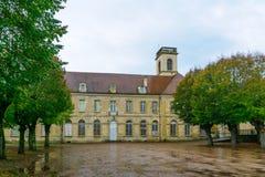 Saint Leonard Abbaye in Corbigny. The Saint Leonard Abbaye in Corbigny, in Nievre, Burgundy, France Stock Photo