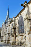 Saint-Leonard church, Fougeres, France. Stock Images