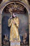 Saint Leonard of Noblac. Main altar in the church of  in Kotari, Croatia Stock Photos