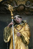 Saint Leonard of Noblac. Statue on church altar Royalty Free Stock Photos