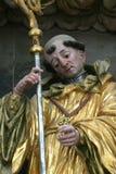 Saint Leonard of Noblac. Statue on church altar Royalty Free Stock Photography