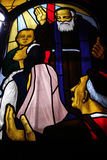 Saint Leopold Mandic, vitral Imagem de Stock