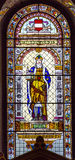 Saint Leopoldus Austria Stained Glass Saint Stephens Cathedral Royalty Free Stock Image