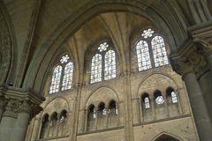 Saint-Leu (Picardie) - Gothic church interior Royalty Free Stock Photography