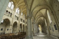Saint-Leu (Picardie) - Gothic church interior Stock Images