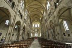 Saint-Leu (Picardie) - Gothic church interior Royalty Free Stock Image