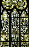 Saint-Leu (Picardie) - Stained glass Royalty Free Stock Photo