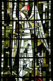 Saint-Leu (Picardie) - Stained glass Royalty Free Stock Images