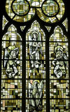 Saint-Leu (Picardie) - Stained glass Stock Photography
