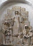 Saint Lioba de Tauberbischofsheim, de Walburga de Heidenheim e de Thekla de Kitzingen imagens de stock royalty free