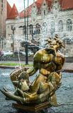 Saint Louis aloesu placu fontanny zjednoczenia i szczegółu stacja Zdjęcie Royalty Free