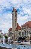 Saint Louis aloesu placu zjednoczenia i fontanny stacja Zdjęcie Royalty Free