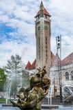 Saint Louis aloesu placu zjednoczenia i fontanny stacja Fotografia Royalty Free